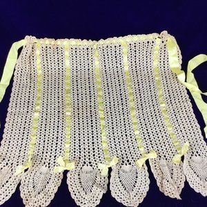 Handmade vintage knit  apron